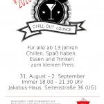 Der Flyer für das diesjährige Chillout